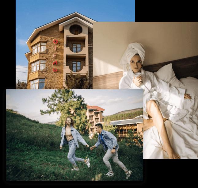 На картинке - гостиничный комплекс Тау-Таш